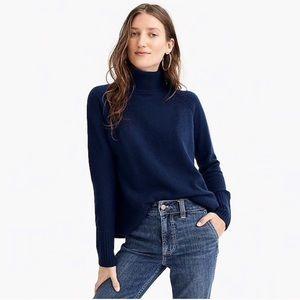 J. Crew • Side Slit Turtleneck Sweater